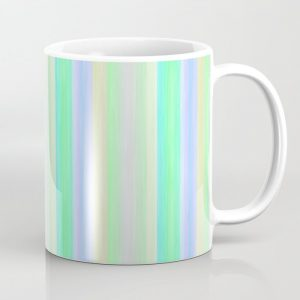 Turquoise Yellow Scrapbook Sherbert Coffee Mug