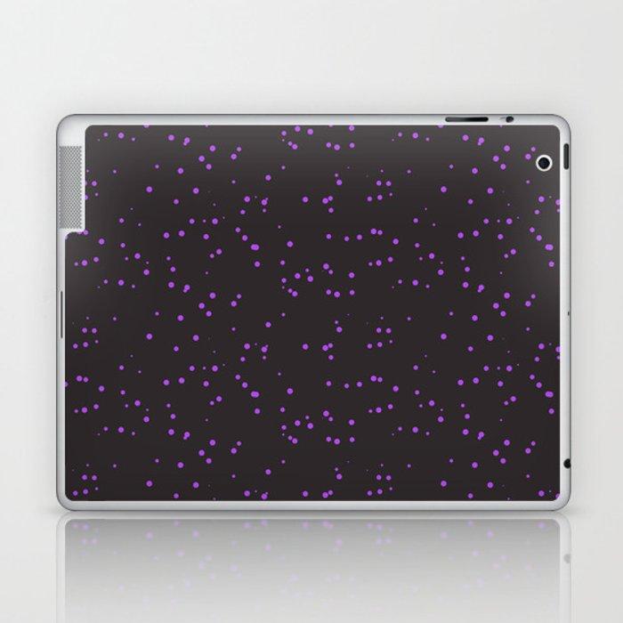 Violet Dark Brown Shambolic Bubbles Laptop & iPad Skin