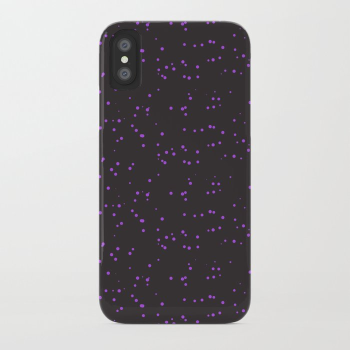Violet Dark Brown Shambolic Bubbles iPhone Case