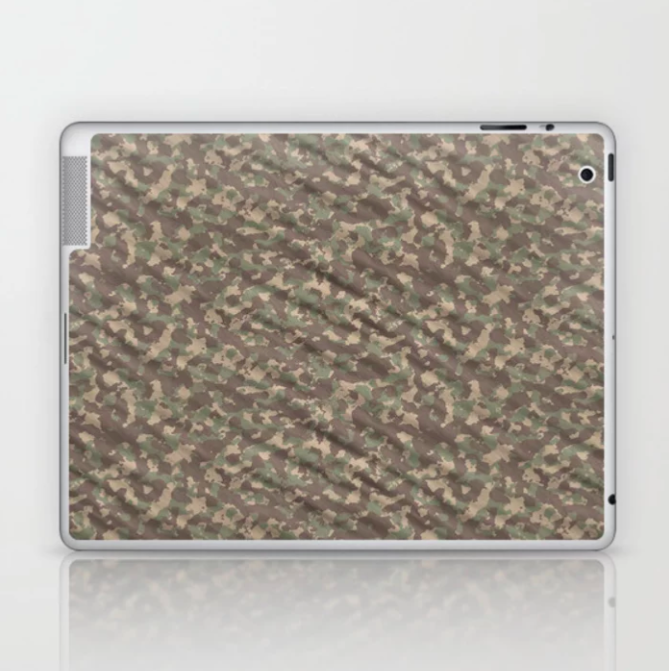 Weathered Green Army Camouflage Laptop & iPad Skin