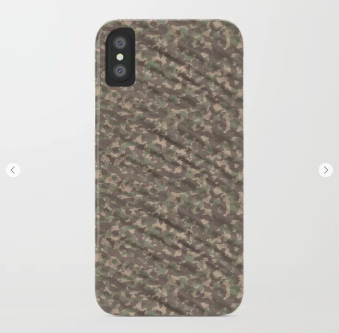 Weathered Green Army Camouflage iPhone Case