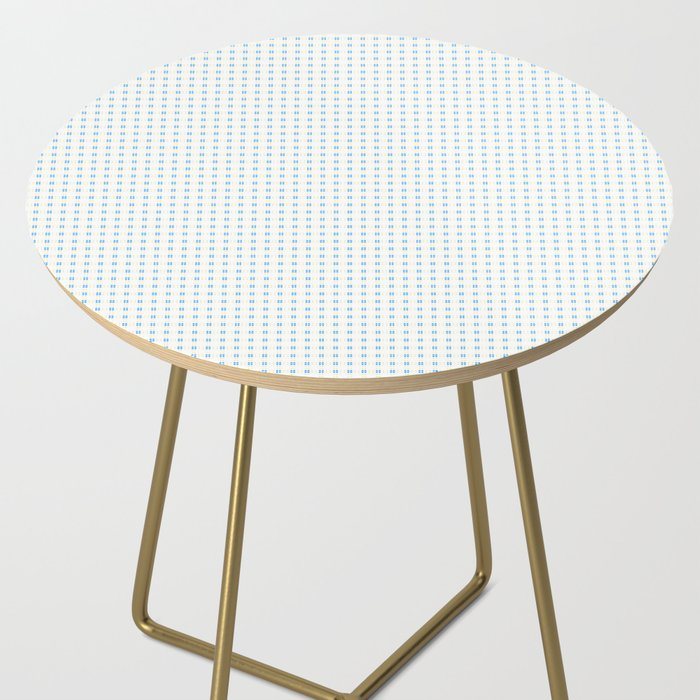 Yellow Blue Cell Checks Side Table