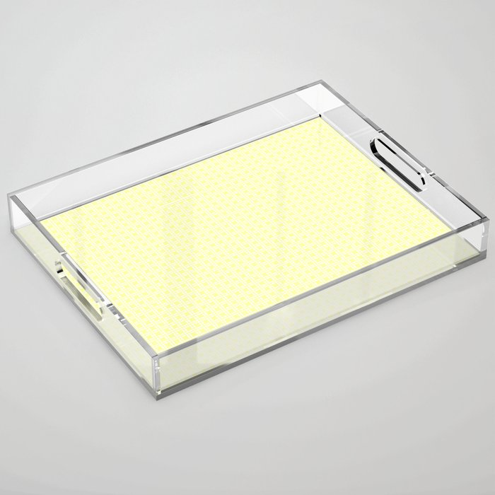 Yellow Cell Checks Acrylic Tray