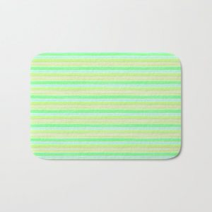 Yellow Lime Blue Scrapbook Sherbert Bath Mat