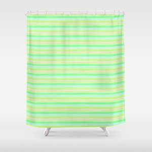 Yellow Lime Blue Scrapbook Sherbert Shower Curtain