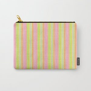 Yellow Pink Lime Scrapbook Sherbert Carry-All Pouch