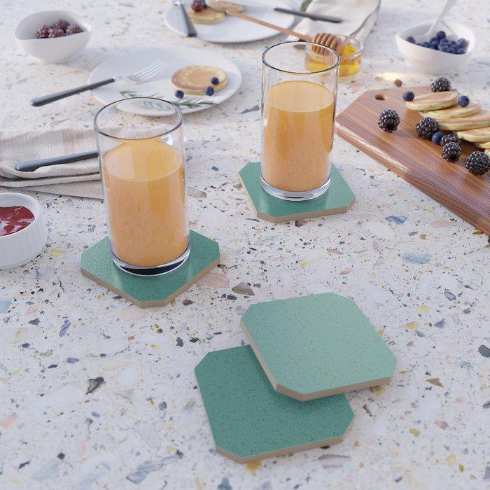 Green Rubber Flooring Coasters