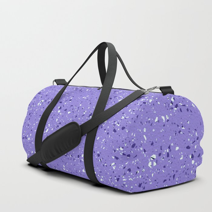 Lilac rubber flooring duffle bags