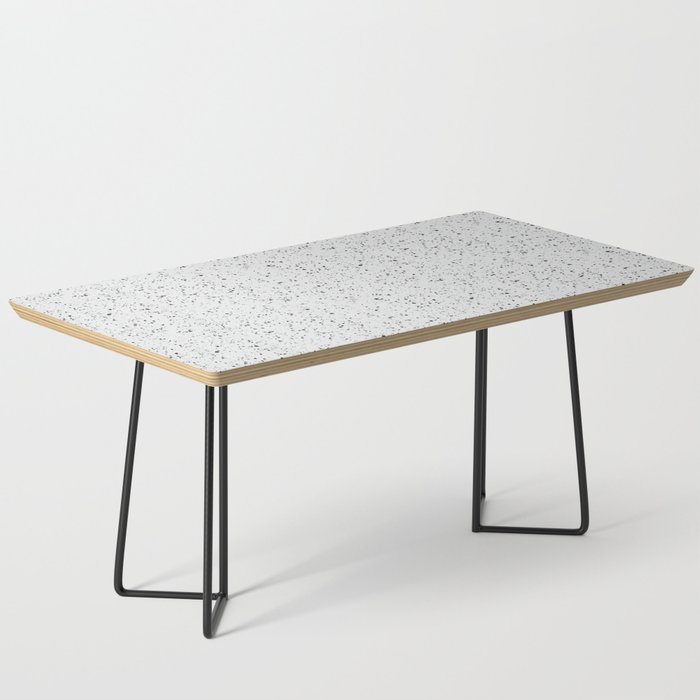 White Rubber Flooring Coffee Table