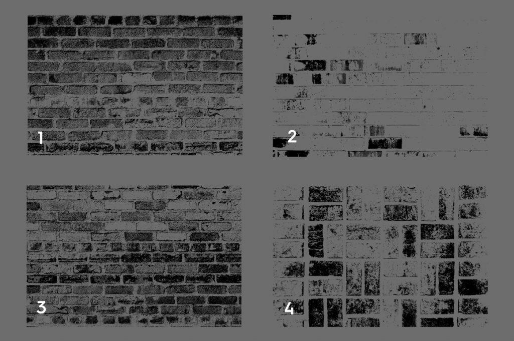 Bricks Wall Texture Overlays Preview Set 1