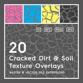 20 Cracked Dirt Texture Overlays