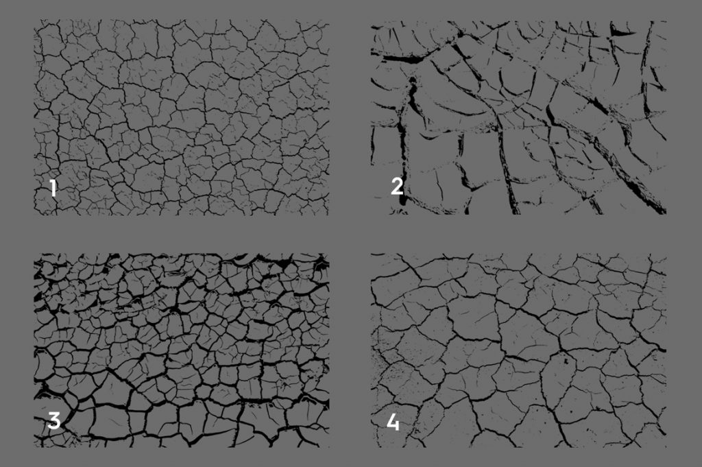 Cracked Dirt Texture Overlays Preview Set 1