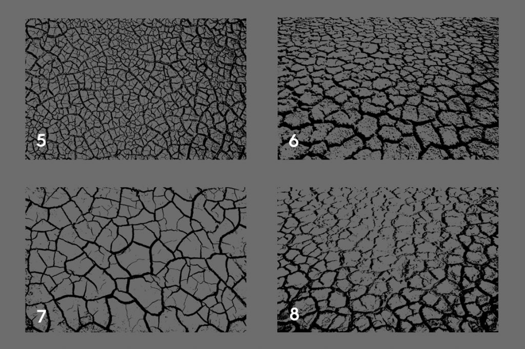 Cracked Dirt Texture Overlays Preview Set 2