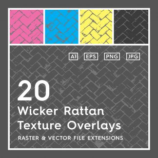 20 Wicker Rattan Texture Overlays