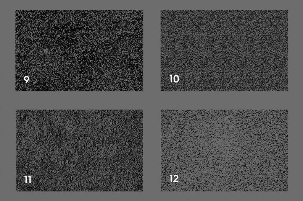 Asphalt & Road Texture Overlays Color Preview Set 3