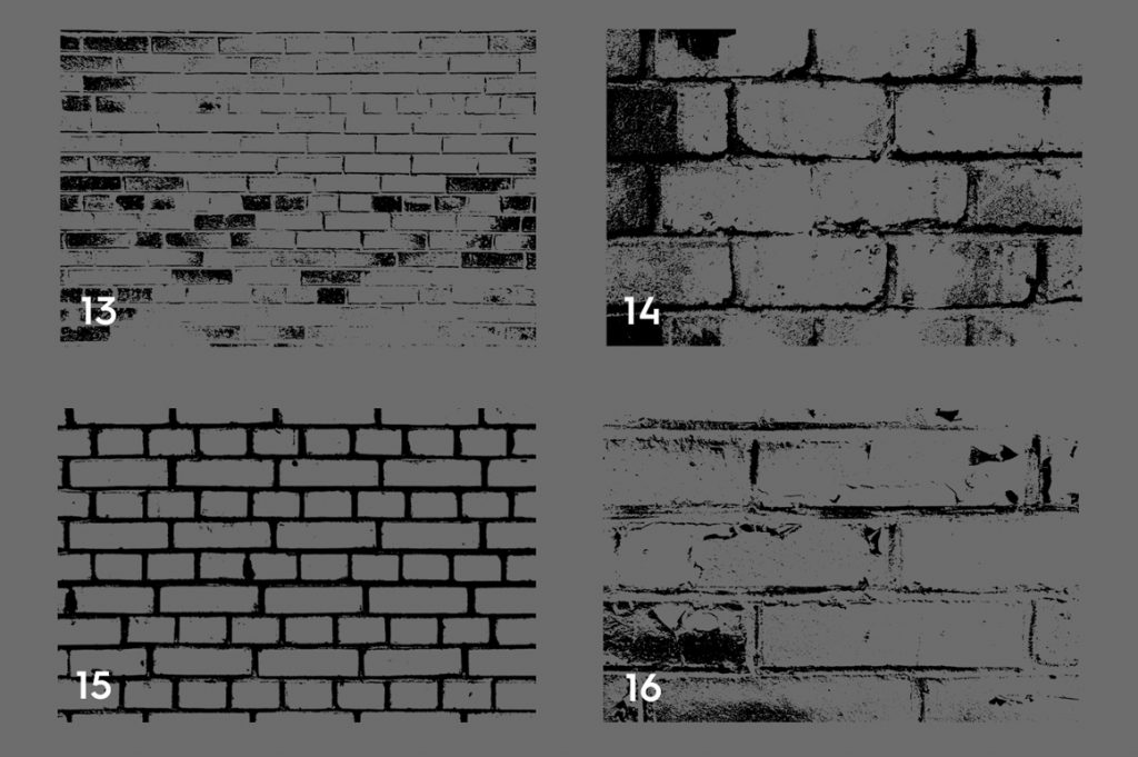 Bricks Wall Texture Overlays Preview Set 4