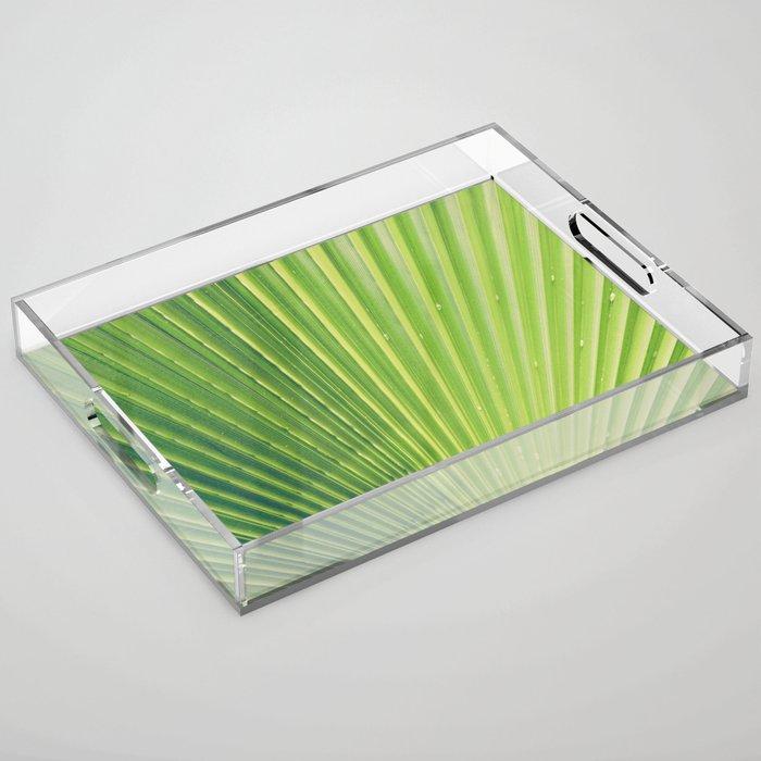 Big Palm Leaf Acrylic Tray