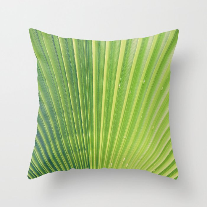 Big Palm Leaf Throw Pillow