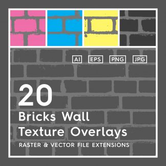 20 Bricks Wall Texture Overlays