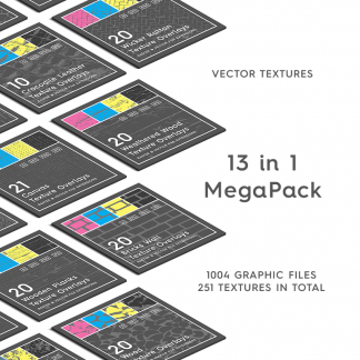 251 Nature Vector Textures. 13 in 1 Megapack.