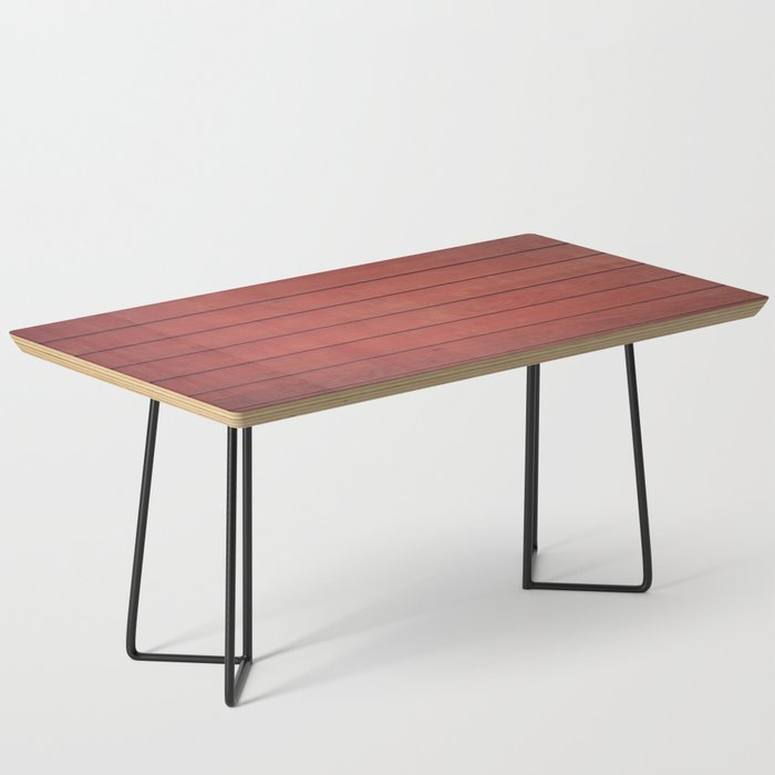 Burgundy Wood Wall Coffee Table