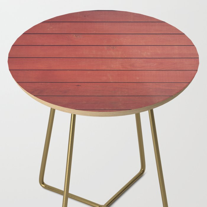 Burgundy Wood Wall Side Table