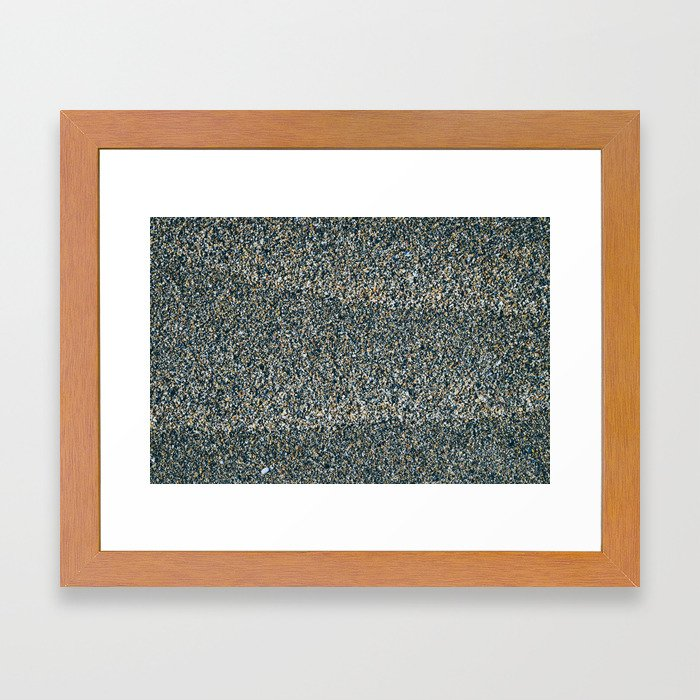 Gray Sand Framed Art Print