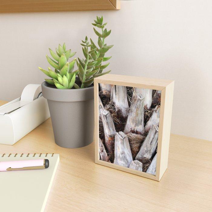 Palm Bark Framed Mini Art Print