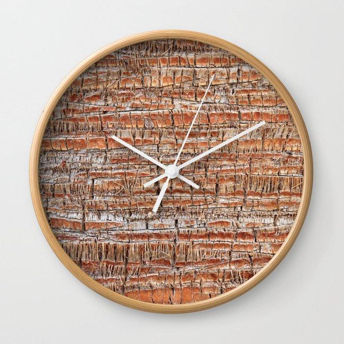Palm Bark Pattern Wall Clock