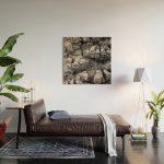 Rough Palm Bark Wood Wall Art