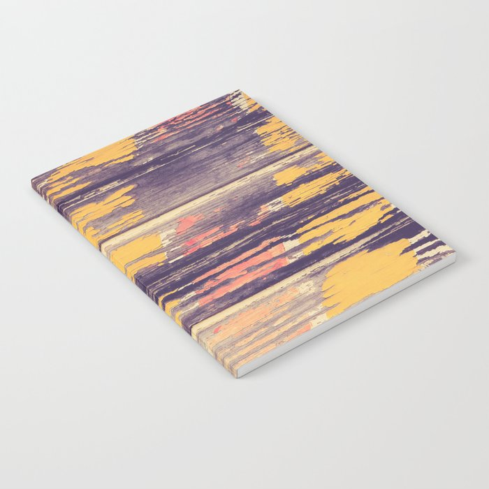Weathered Painted Wood Wall Notebook