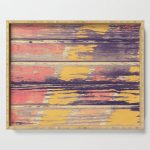Weathered Painted Wood Wall Serving Tray