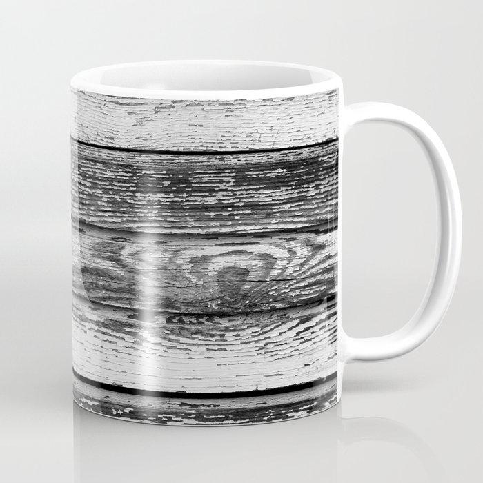 Weathered White Wood Wall Coffee Mug