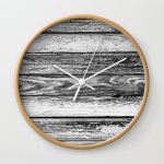 Weathered White Wood Wall Wall Clock
