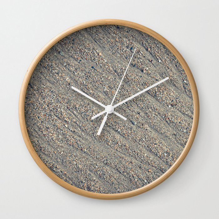 Wet Sand Scours Wall Clock