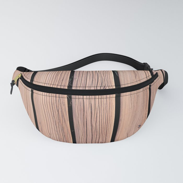 Wood Planks Wall Fanny Pack