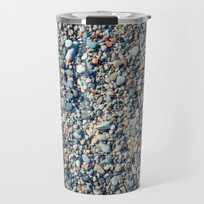 Beach Stones Surface Travel Mug