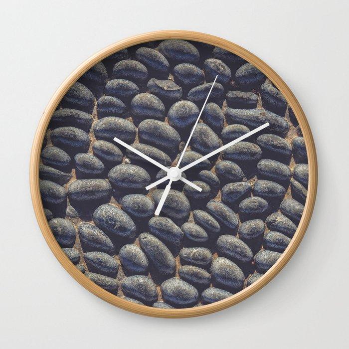 Black Pebble Wall Clock