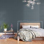 Blue Gray Striped Knitted Weaving Wallpaper