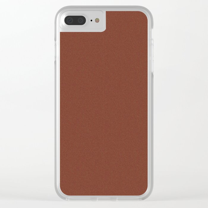 Brown Knitted Weaving Clear iPhone Case