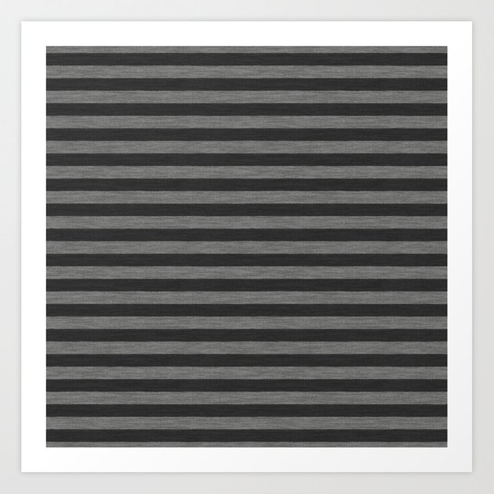 Gray Striped Knitted Weaving Art Print