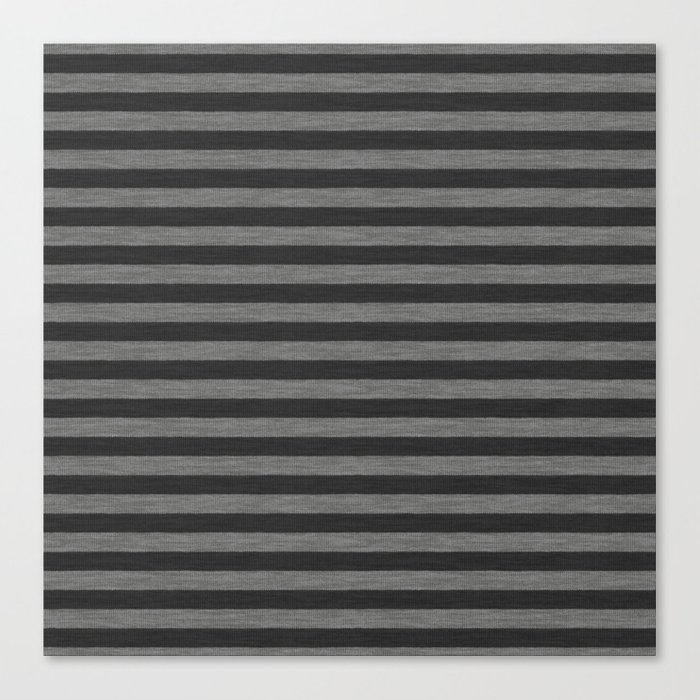 Gray Striped Knitted Weaving Canvas Print