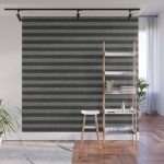 Gray Striped Knitted Weaving Wall Mural