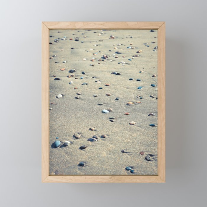 Pebbles on the Beach Framed Mini Art Prints