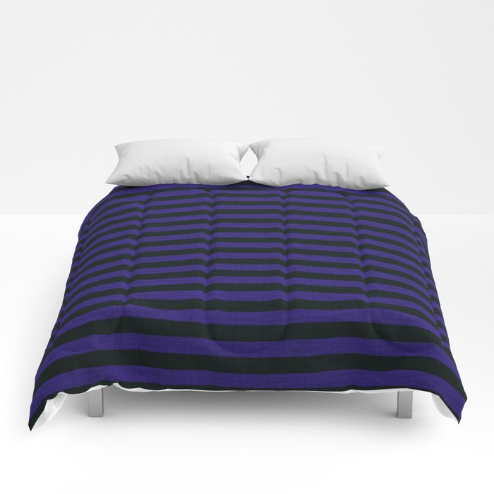 Purple Black Striped Knitted Weaving Comforters