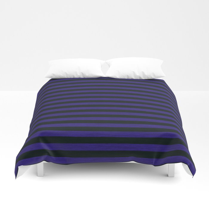 Purple Black Striped Knitted Weaving Duvet Cover