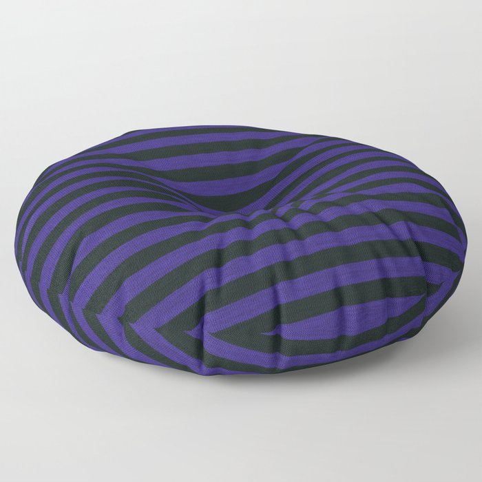 Purple Black Striped Knitted Weaving Floor Pillow