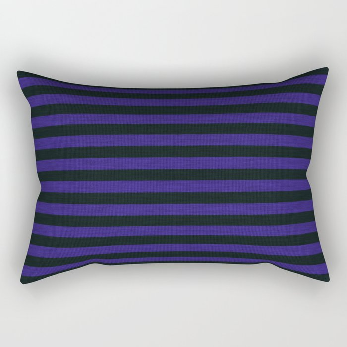 Purple Black Striped Knitted Weaving Rectangular Pillow