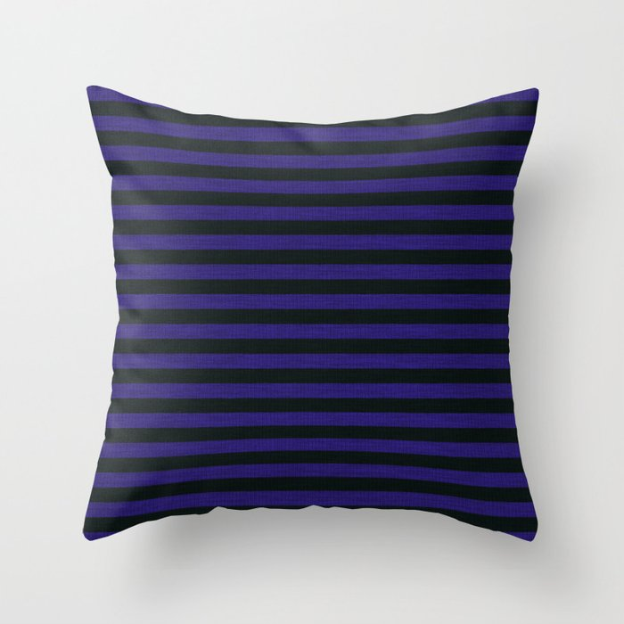 Purple Black Striped Knitted Weaving Throw Pillow