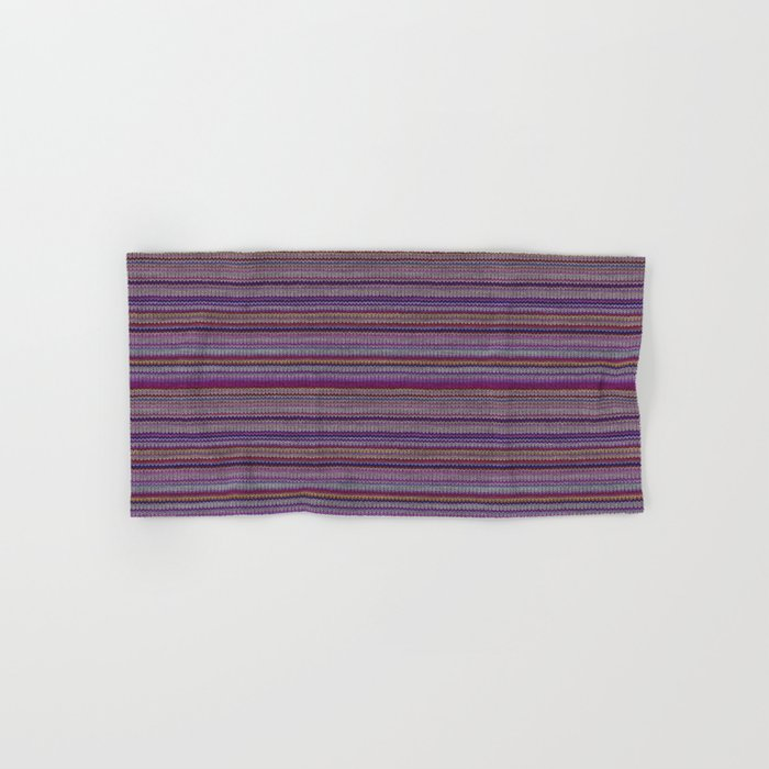 Purple Lilac Striped Knitted Weaving Hand Bath Towel